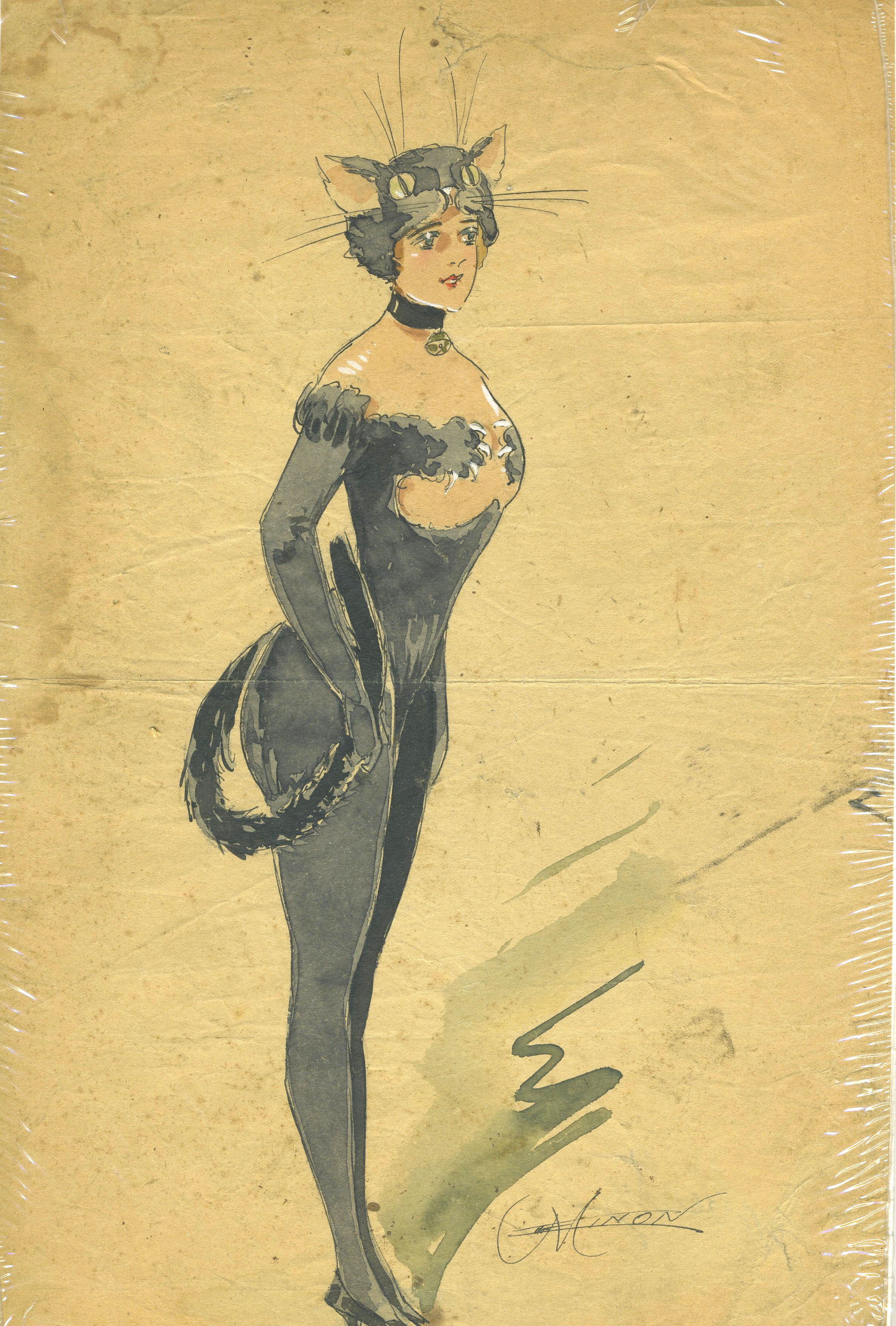 French costume design gouaches by Minon