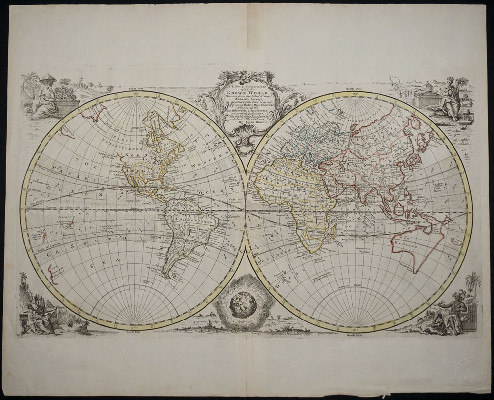 New and accurate map of all the known world emanuel bowen new and accurate map of all the known world emanuel bowen gumiabroncs Gallery