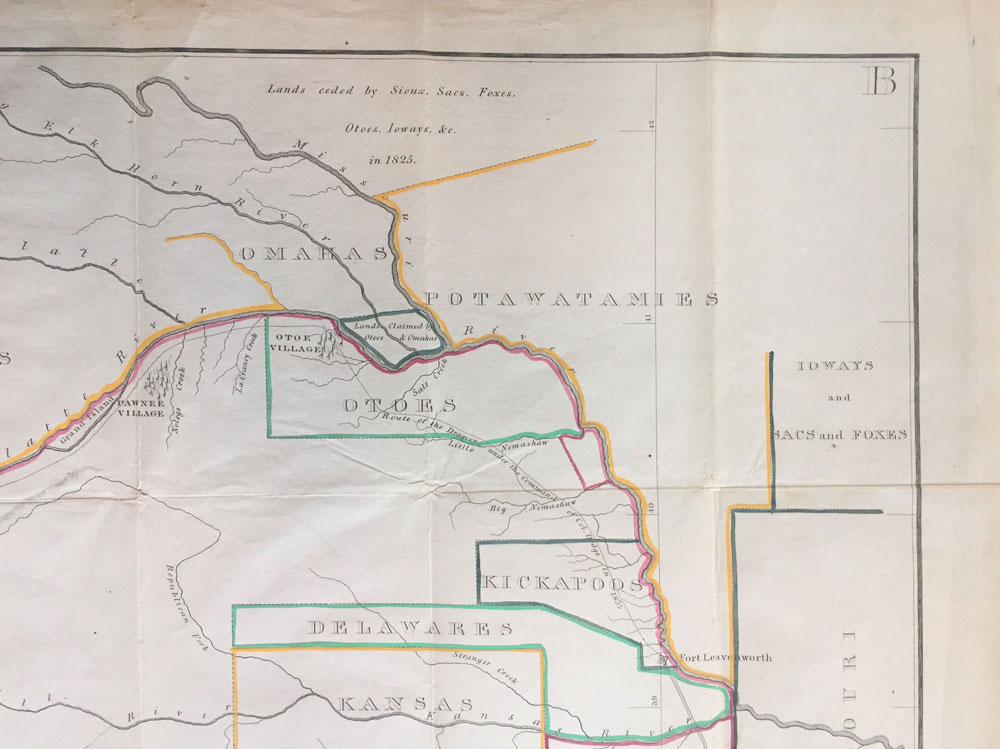 A cornerstone 1836 map of the Western United States, showing mainly Kansas  and Nebraska Western Territory by Dodge. Henry P. Col., Enoch Steen on ...