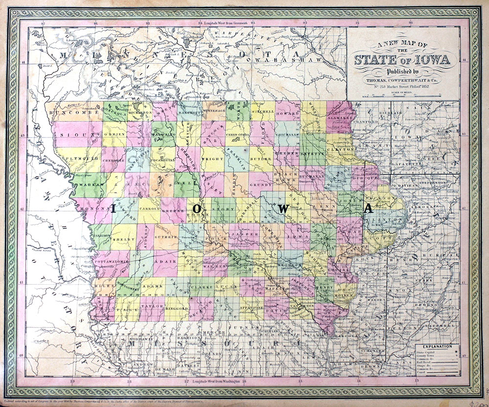 Map of Iowa | Cowperthwait Thomas, Co