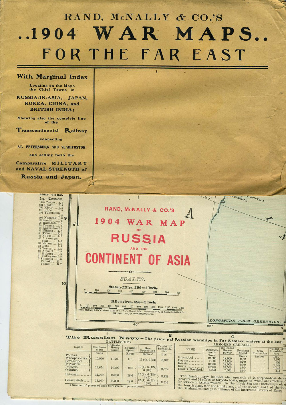 Rand, McNally & Co.\'s 1904 War Maps for the Far East: Russia and the ...