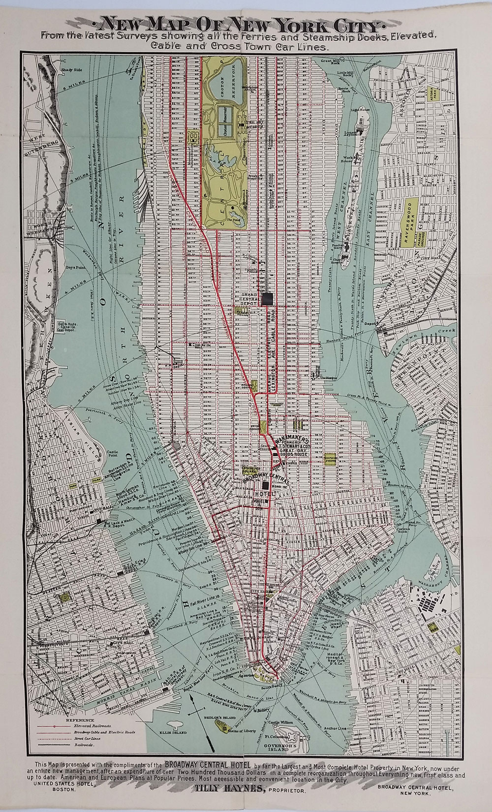 Map Of New York New York Hotel.New Reference Map Guide To New York City Executed By Brooks Bank