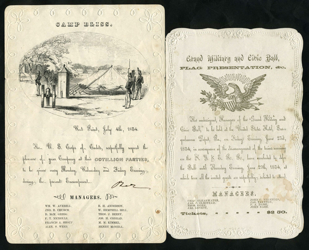 West Point Cotillion Invitation with Grand Military and Civic Ball