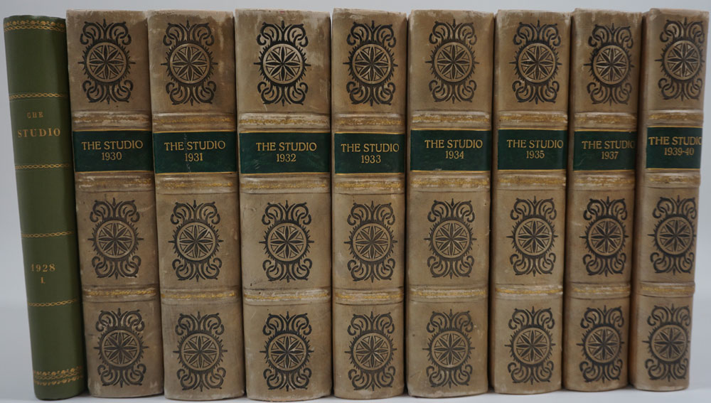 The Studio An Illustrated Magazine Of Fine And Applied Art 4 Volumes 1930 1931 1932 1935 Charles Ed Holme