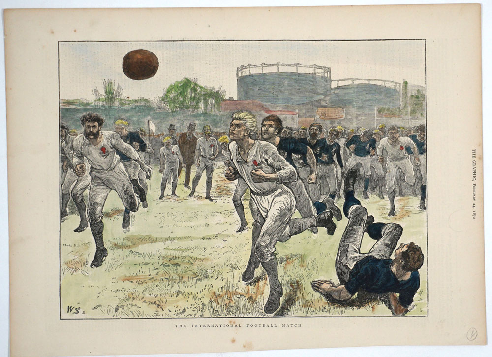 A Collection Of 49 Antique Rugby Prints