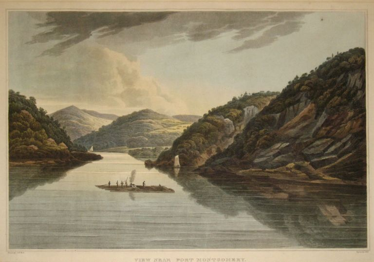 View Near Fort Montgomery. (No. 18 of the Hudson River Portfolio). William Guy Wall.