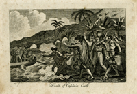 Death of Captain Cook. Print. Sculptor Pye.
