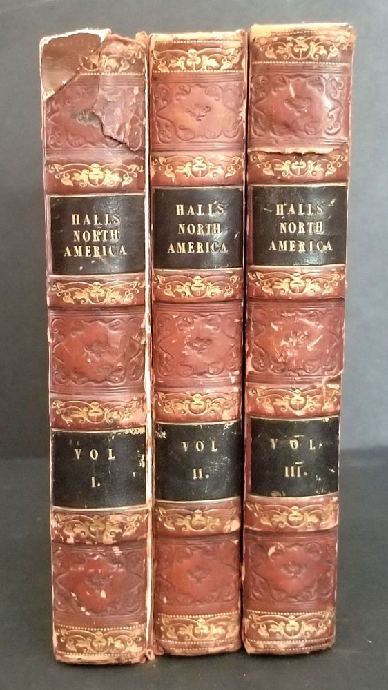 Travels in North America in the Years 1827 and 1828. Volumes I-III. Captain Basil Hall.