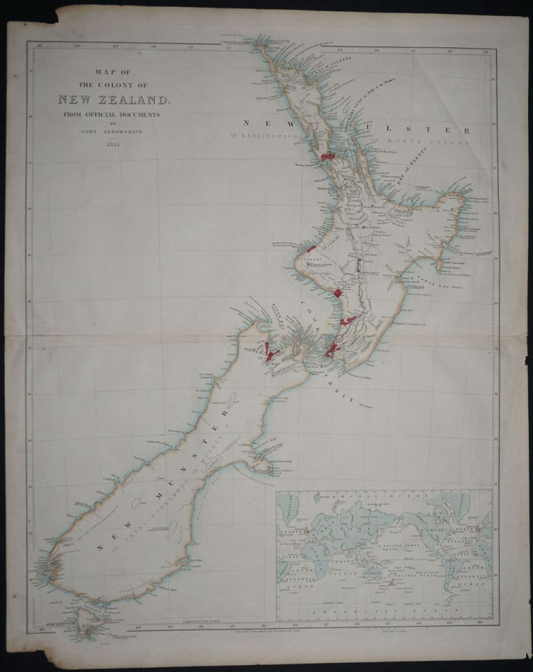 Map of the Colony of New Zealand; From Official Documents. John Arrowsmith.