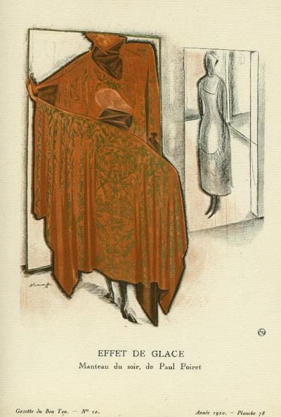 Effet de Glace: Manteau de soir, de Paul Poiret Print from the Gazette du Bon Ton.