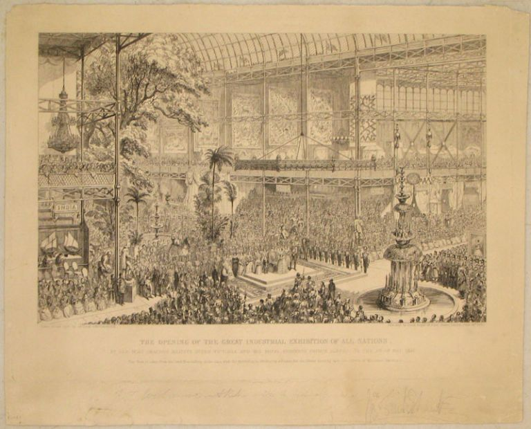The Opening of the Great Industrial Exhibition of all Nations, By Her Most Gracious Majesty Queen Victoria and His Royal Highness Prince Albert, on the 1st of May, 1851. George Cruikshank.