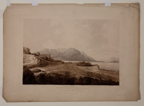 View in Macao including the residence of Camoens when he wrote his Lusiad. John Webber.