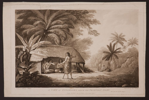 A View in Annamooka, One of the Friendly Isle's; View in Ulietea; A View in Matavai, Otaheite (variant title). John Webber.