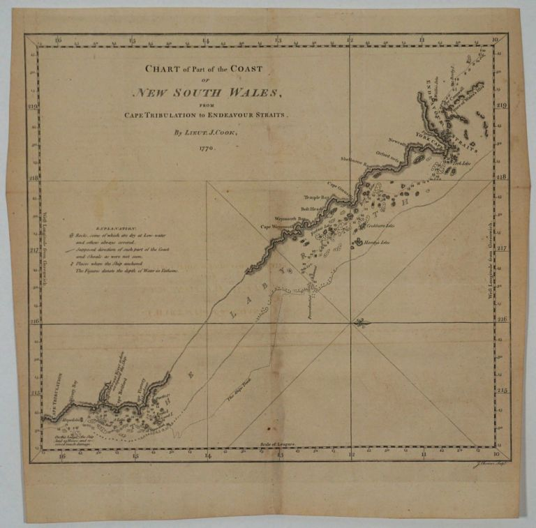 Chart of Part of the Coast of New South Wales from Cape Tribulation to Endeavour Straits. By Lieut. J. Cook, 1770. James Cook.
