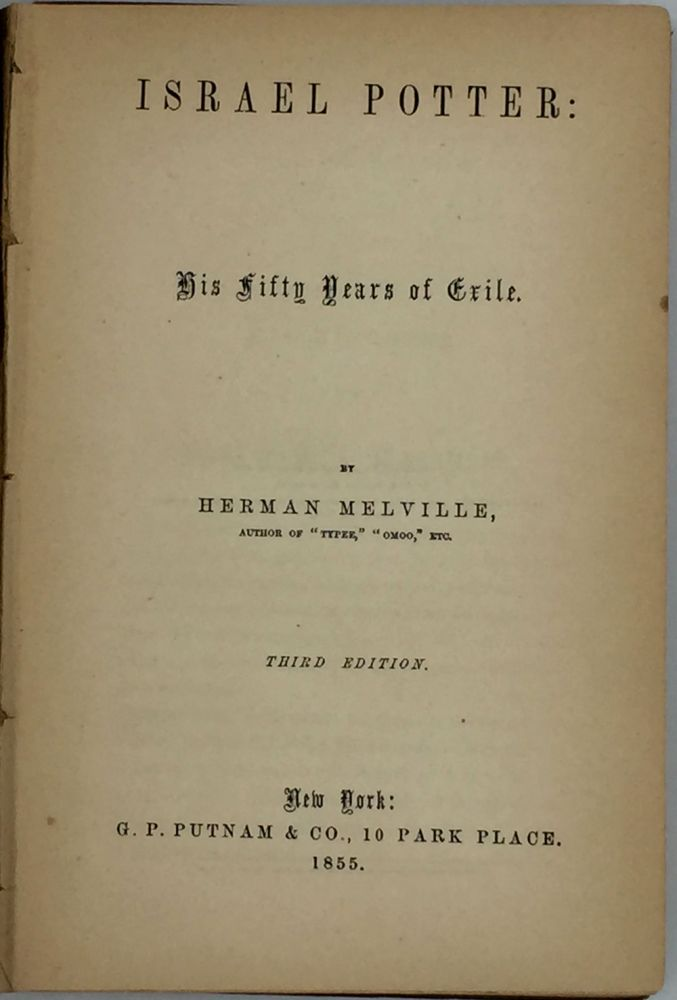 Israel Potter: His Fifty Years of Exile. Herman Melville.