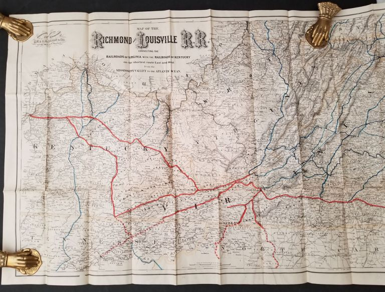 Map of the Richmond and Louisville Railroad Connecting the