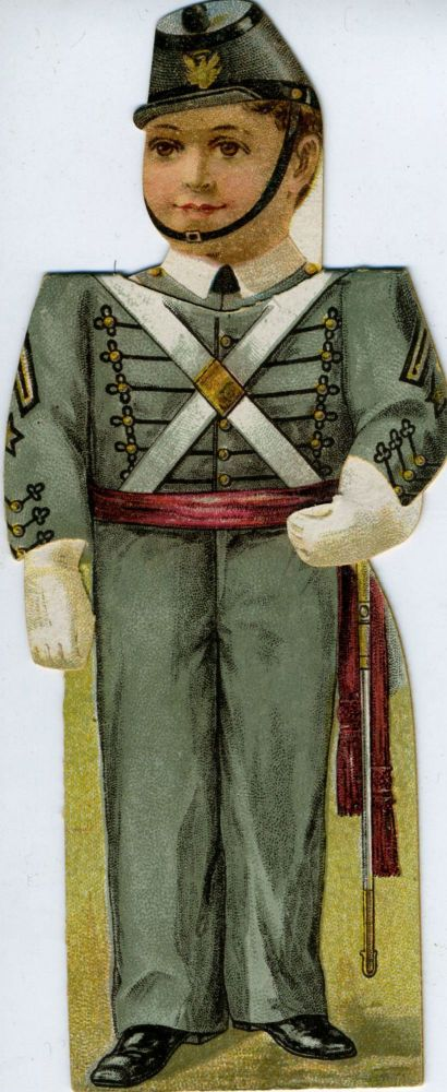 Circa 1880 West Point Cadet Paper Doll By Clark's. West Point-Cadet Paper Doll.