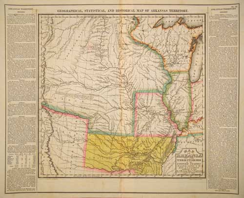 Geographical, Historical, And Statistical Map Of Arkansas Territory. Stephen H. Long, Maj. U. S. Engineers.