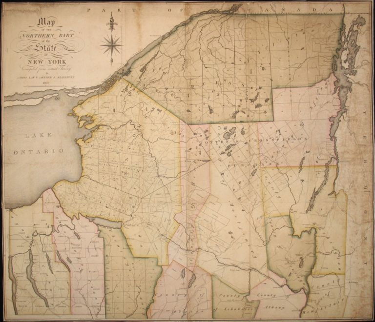 Map of the Northern Part of the State of New York Compiled from actual Survey by Amos Lay & Arthur J. Stansbury 1801. Amos Lay, Arthur Stansbury.