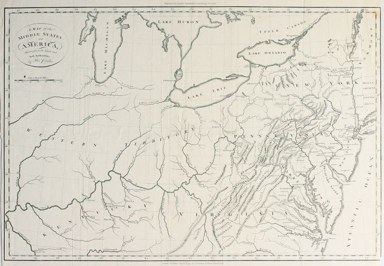 A Map of the Middle States of America, Drawn from the latest and best Authorities . Thomas Conder.