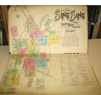 Sanborn Map of Sing Sing for the exclusive use of F.J. Washburn. Agent N.Y. Nov 1897. Sanborn Atlas, NY Ossining.