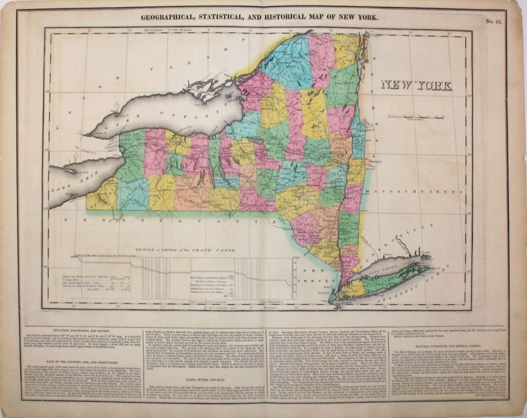 Geographical, Statistical, and Historical Map of New York. New York, Henry Carey, Isaac Lea.