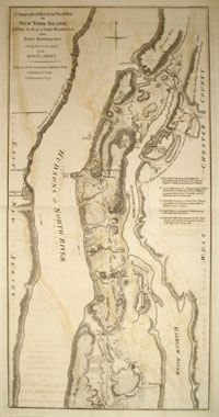 A Topographical Map of the North.n Part of New York Island, Exhibiting the Plan of Fort Washington, now Fort Knyphausen, Shewing the Several Attacks of the Royal Army. William Faden, after.
