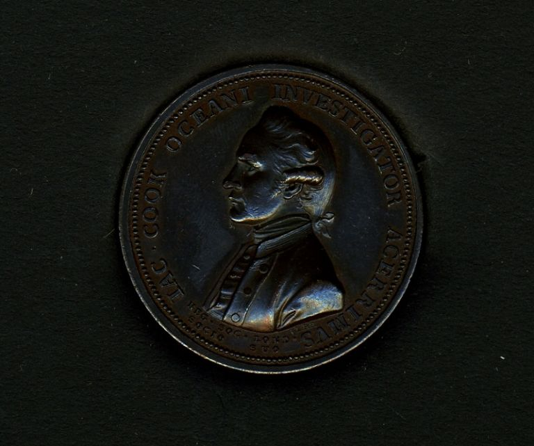Royal Society Memorial Medal of Captain James Cook. Lewis Pingo, James Cook.
