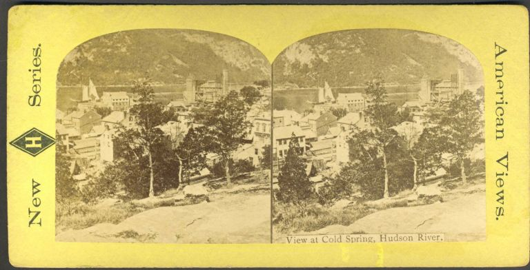 View at Cold Spring, Hudson River. Stereoscopic view.