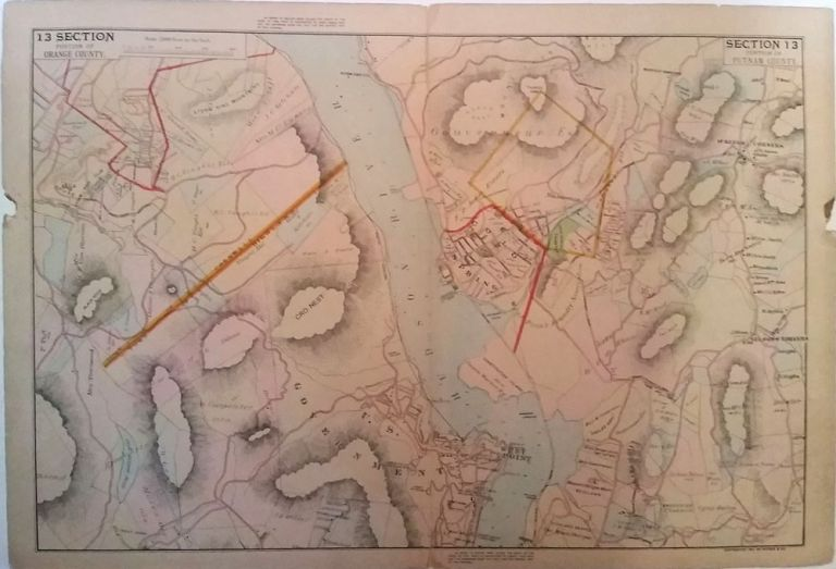 Map of Cold Spring, Garrison, West Point & Storm King. Section 13 Portion of Putnam County/ Portion of Orange County. Watson, Co.