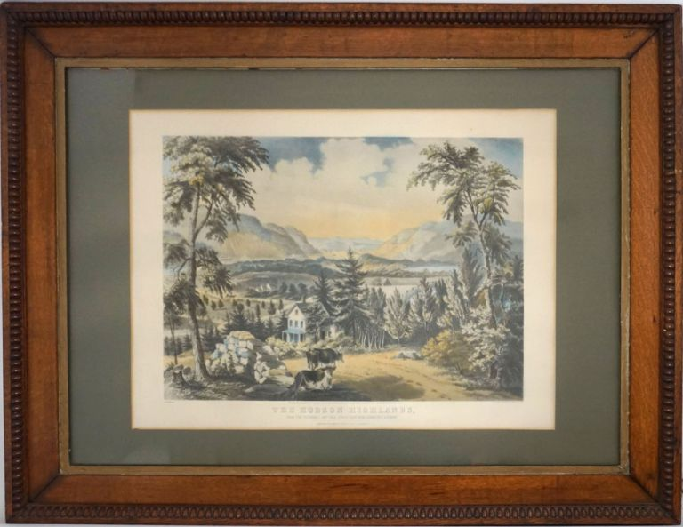 The Hudson Highlands. From the Peekskill and Cold Spring Road near Garrison's Landing. Fannie. Currier Palmer, Ives.