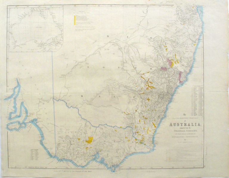 The South Eastern Portion of Australia; Compiled from the Colonial Surveys, and from Details Furnished by Exploratory Expeditions, by John Arrowsmith. John Arrowsmith.