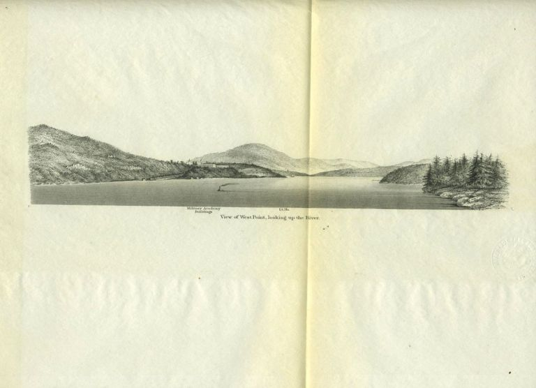 View of West Point, Looking up the Hudson River. West Point, US Coastal Survey.