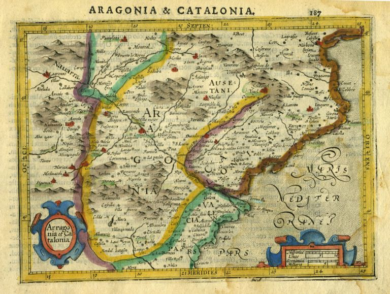 Arragonia et Catalonia [Spain]. Gerhard Mercator.