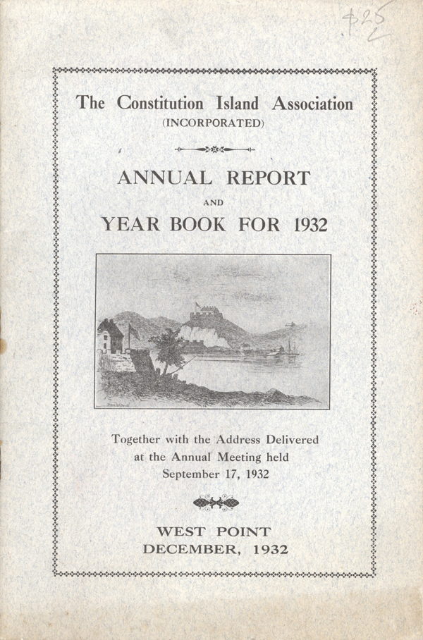 The Constitution Island Association (Incorporated) Annual Report and Year Book for 1932.