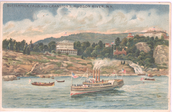 Buttermilk Falls and Cranston's, Hudson River, N. Y. West Point.