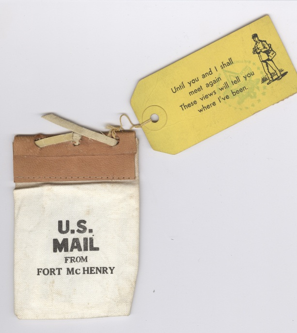 U.S. Mail from Ft. McHenry, Maryland.