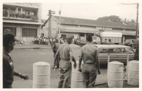 Security Officers Check Out Ky-Son After Bomb, October 17, 1966.