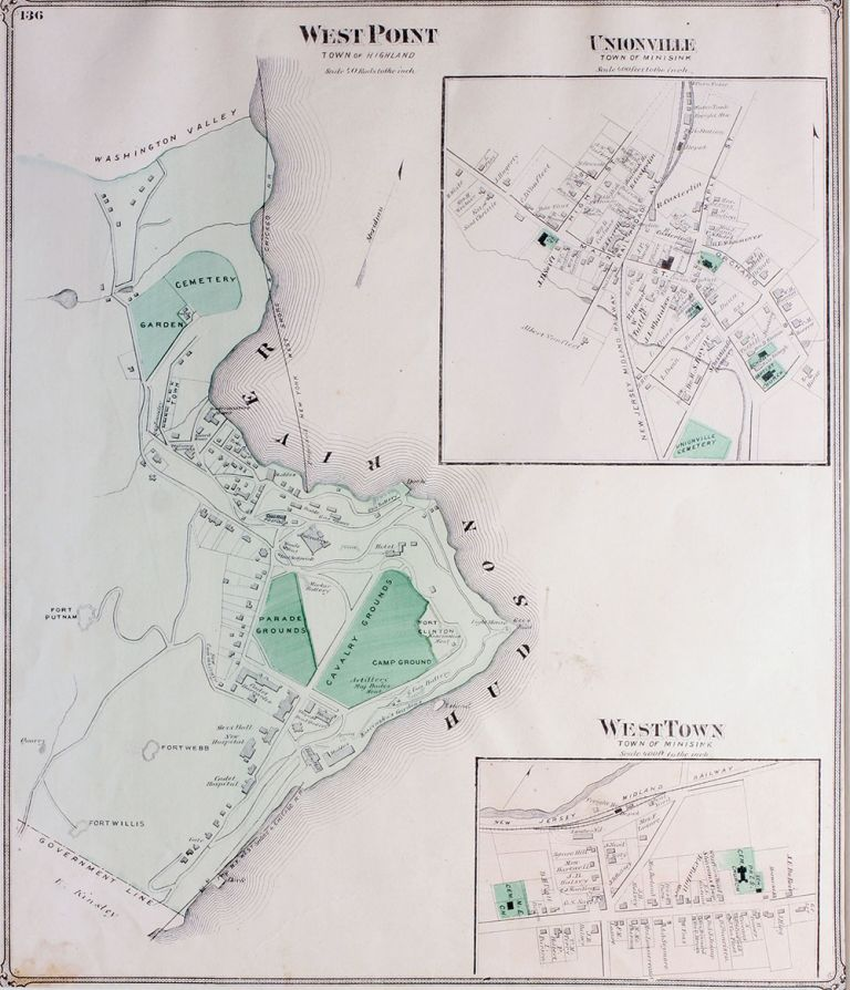 West Point (Town of Highland) - Unionville (Town of Minisink)- WestTown (Town of Minisink). F. W. Beers, Publisher.