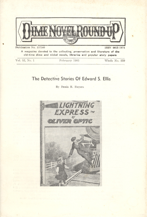 Three Issues of the Dime Novel Roundup, a Supplement and a Catalog.