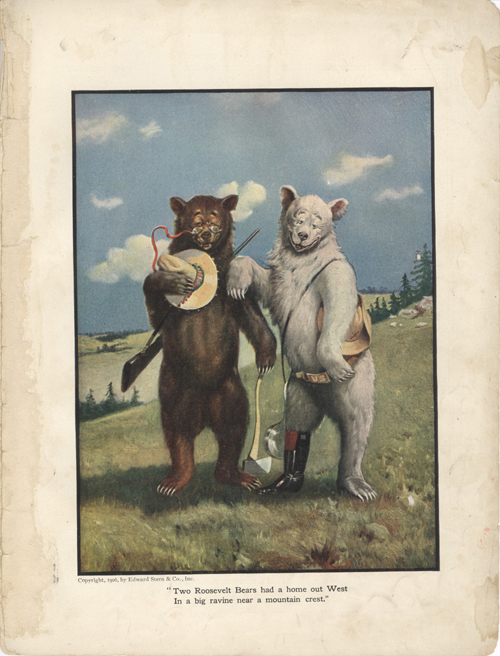 The Roosevelt Bears Leave Their Mountain Home (Color Print). V. Floyd Campbell.