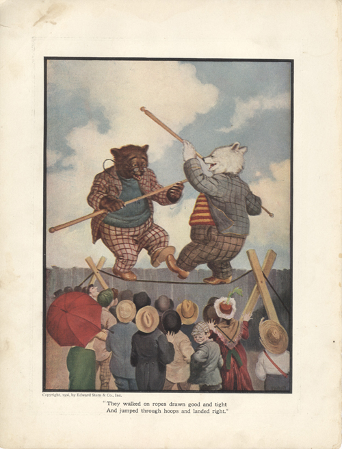 The Roosevelt Bears at a County Fair (Color Print). V. Floyd Campbell.
