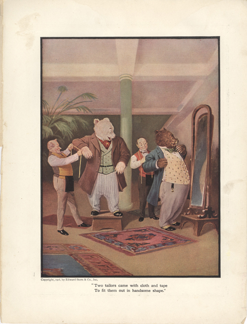 The Roosevelt Bears at the Tailors (Color Print). V. Floyd Campbell.