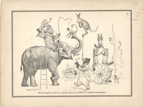 The Roosevelt Bears at the Circus (B&W Print). V. Floyd Campbell.