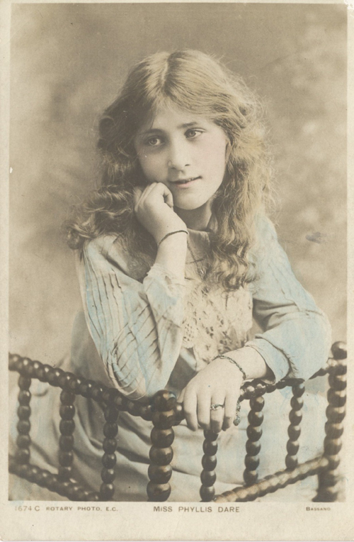 Four Rotary Photographic Series Postcards of British Actresses.