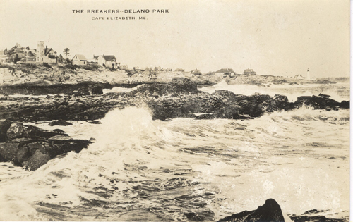 The Breakers-Delano Park, Cape Elizabeth, Maine Real Photo Postcard.