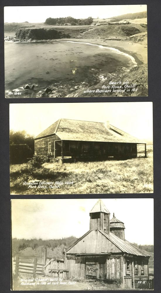 Three Real-Photo Postcards from Fort Ross, California.