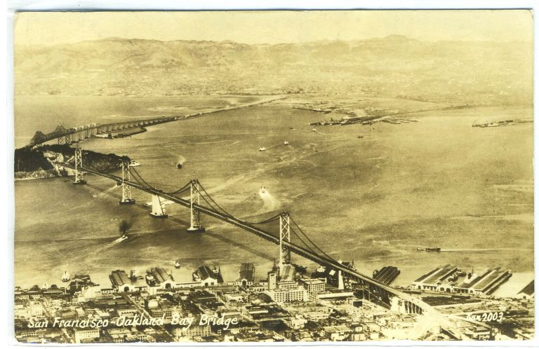 Photo Postcard of San Francisco-Oakland Bay Bridge, California.