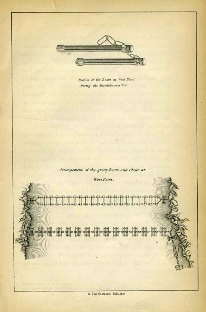 Portion of the Boom at West Point During the Revolutionary War [with] Arrangement of the Great Boom and Chain at West Point. West Point, W. S. Barnard.