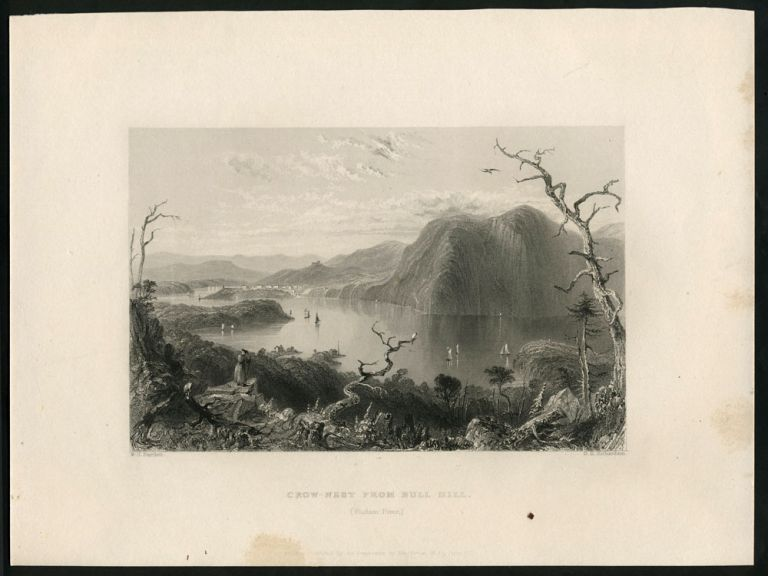 Crow-Nest From Bull Hill (Hudson River.). West Point, W. H. Bartlett.